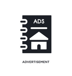 Advertisement isolated icon simple element from vector