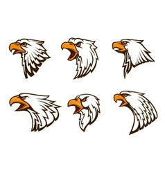 Bald Eagle emblems set vector