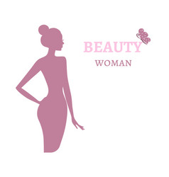 Beauty logo template background with beautiful vector