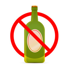 Beer are not allowed red forbidden sign on white vector