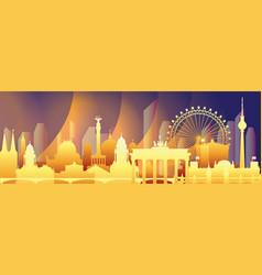 Berlin colorful gradient cityscape vector