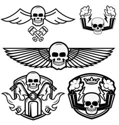 Biker logos vector