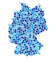 blue dot germany map composition vector image