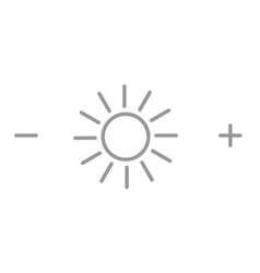 brightness icon or symbol sun with plus and minus vector image
