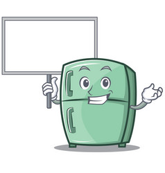 Bring board cute refrigerator character cartoon vector