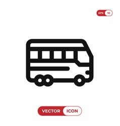 bus icon auto bustransport symbol vector image