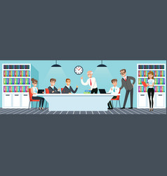 business meeting people working in the office vector image
