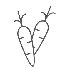 carrot thin line icon food and vegetable vector image