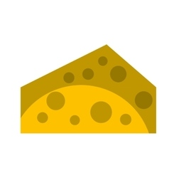 cheese piece isolated icon vector image