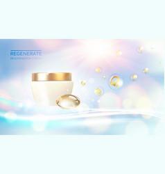 collagen regenerates cream concept design bottles vector image