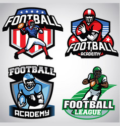 Collection of american football badge designs vector