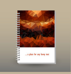 Cover of diary brown orange polygonal pattern vector