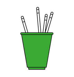 cup with pencils design vector image