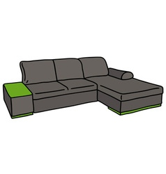 Dark couch vector