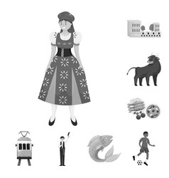 Design and traditional symbol set of vector