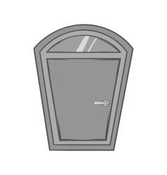 Door from house icon black monochrome style vector image