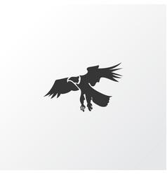 eagle icon symbol premium quality isolated hawk vector image