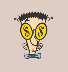 face money cartoon vector image