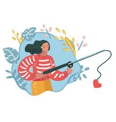 find love girl vector image