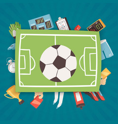 football equipment and supplies banner vector image