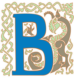 Gargoyle capital letter b vector