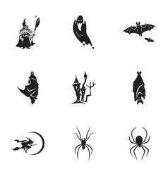 Halloween party icon set simple style vector