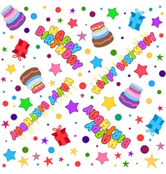 Happy Birthday Pattern Colorful vector image