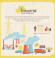 Industrial background retro style vector