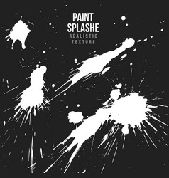 ink paint splatter texture vector image