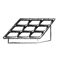 Isolated solar panel vector