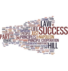 Law of success part iii text background word vector