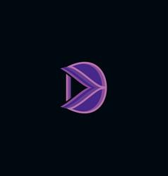 Letter d colorful logo design vector