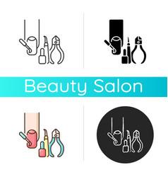 Manicure icon vector