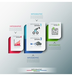 Modern Infographics Process Template vector image