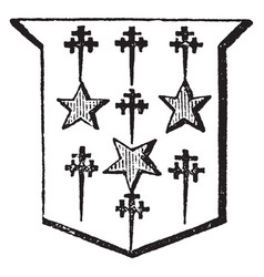 mullets and cross crosslets are part of an vector image