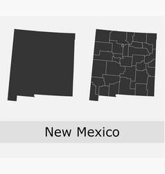 new mexico map counties outline vector image