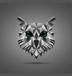 owl bird low poly design vector image