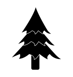 Pictogram pine tree forest camping icon vector