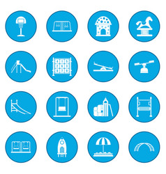 Playground icon blue vector