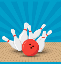 poster games in the bowling club vector image