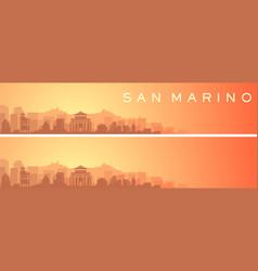 San marino beautiful skyline scenery banner vector