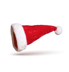 santa claus hat 3d realistic santa claus hat vector image