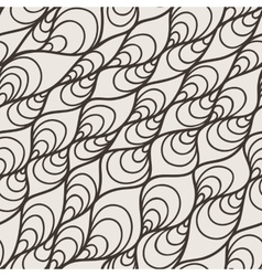 seamless pattern of wavy lines and twisted vector image