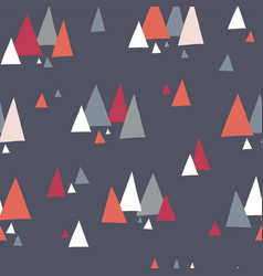 seamless pattern with triangle mountains vector image