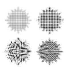 Set of abstract halftone design elements abstract vector