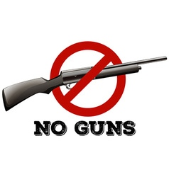 Sign with no guns allowed vector