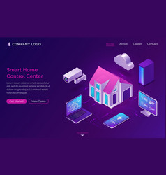 smart home isometric internet things concept vector image