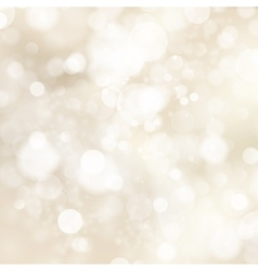 Soft golden abstract Christmas lights EPS 10 vector image