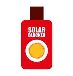solar bloquer isolated icon design vector image