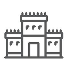 Solomon temple in jerusalem line icon religion vector